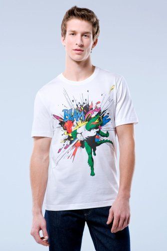 Red Collection Short Sleeve Blam Graphic T-shirt