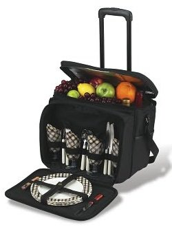 Rolling Picnic Cooler for Four