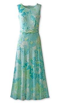 Ruched waist print dress