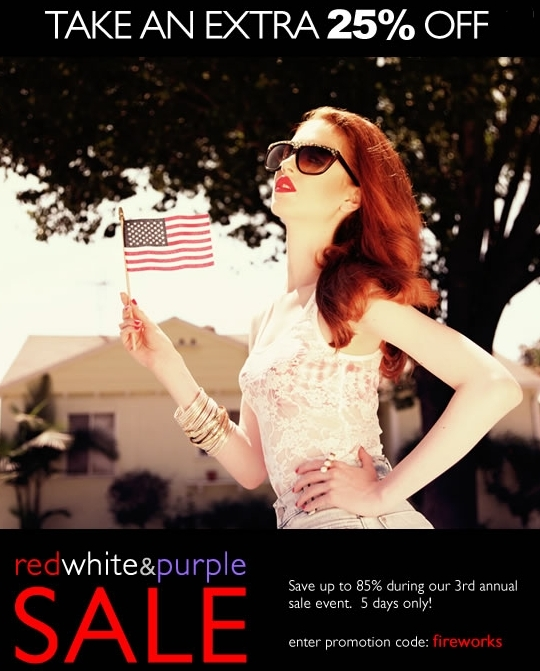 Red white and purple sale