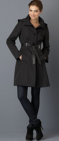 VIA SPIGA Pimino Single-Breasted Hooded Walking Coat