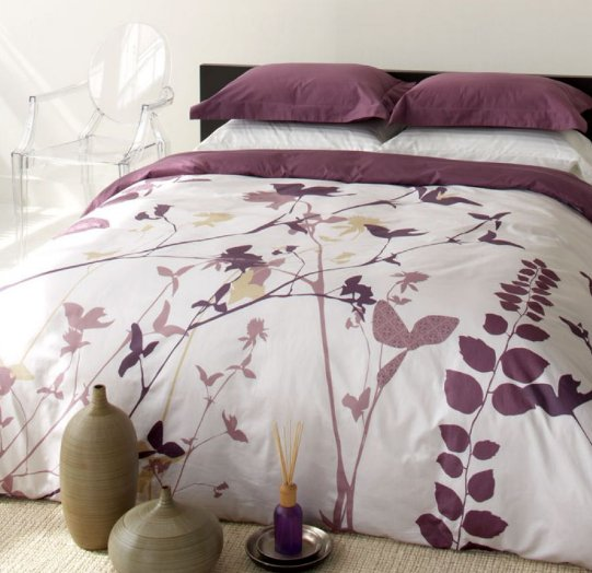 Blissliving Home Amanda Purple Duvet Set