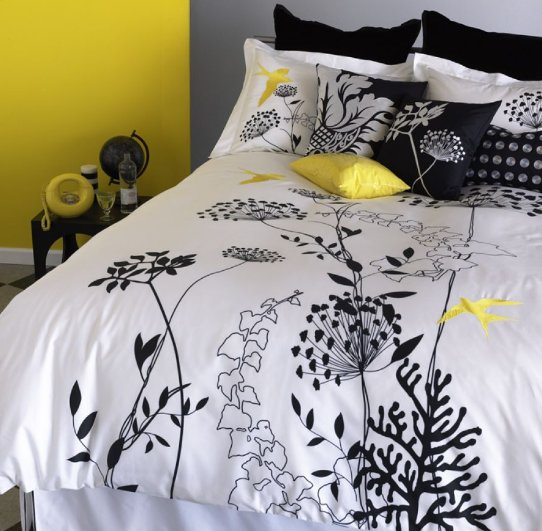 Blissliving Home Anis Yellow Duvet Set