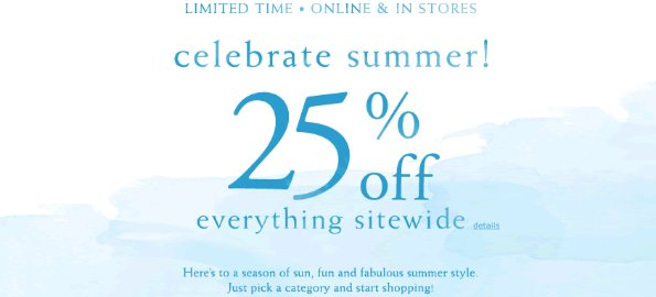 coldwater creek sitewide summer savings