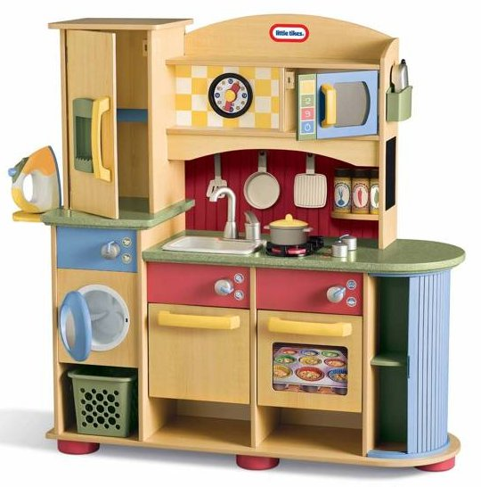 Deluxe Wooden Kitchen & Laundry Center