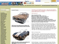 Die Cast Car Models