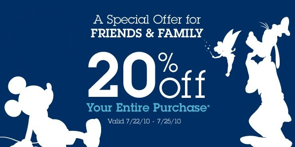 disney shopping offer