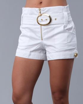 High Waisted Cuff Shorts