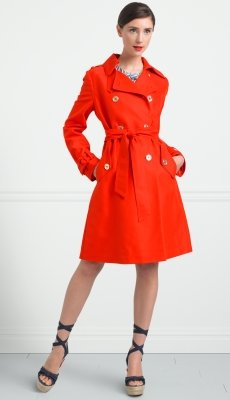 king street twill bow trench coat