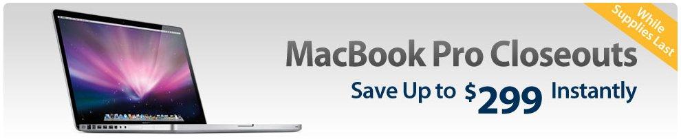 MacBook Pro Closeouts Sale