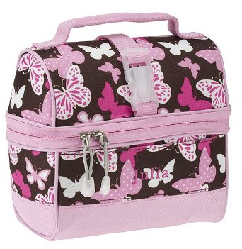 Mackenzie Lunch Bag, Chocolate Butterfly