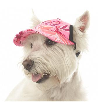 PlayaPup UV Protective Visor in Groovy Pink