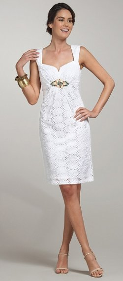 ronnie nicole beaded eyelet dress