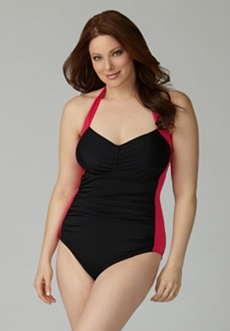 Ruched Halter Swimsuit