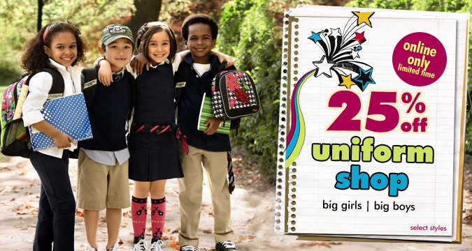 the childrens place uniform shop