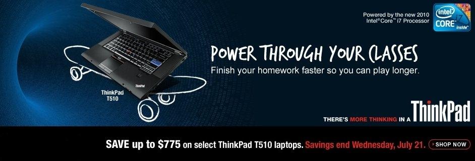 Save Big on Lenovo ThinkPad T510