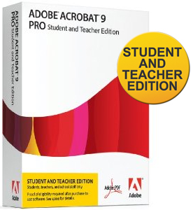 Adobe Acrobat 9 Pro Student and Teacher Edition