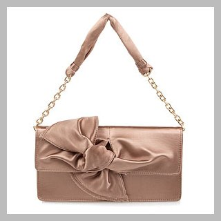 BCBG Maxazria Satin Bow Clutch