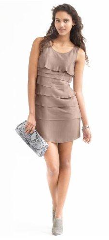 BR Monogram ruffle tier dress