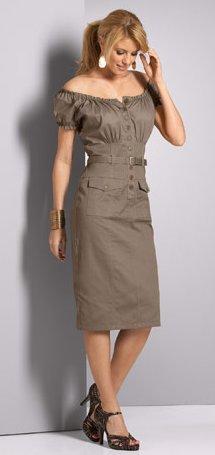 Cotton Peasant Dress