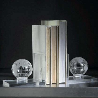 Earthball Bookends Crystle