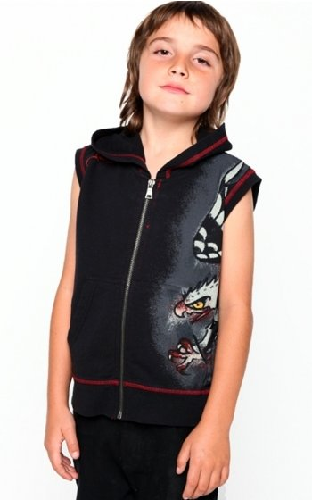 Ed Hardy Boys Diving Eagle Sleeveless Hoody