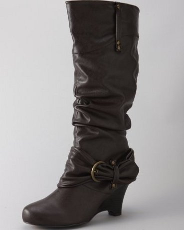 Leather Buckle Belt Boot