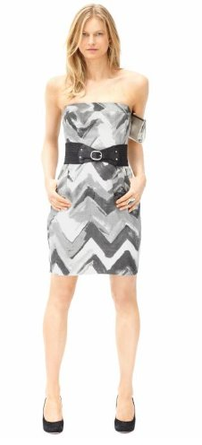 Linen chevron dress