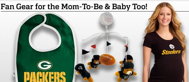 NFL Fan Gear for Mom-to-Be and Baby