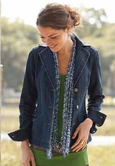 Seamed Denim Jacket