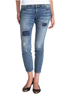 The Crop Skinny Conductor Repair Jeans