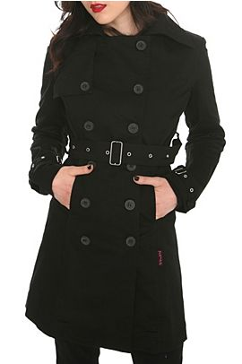 Tripp Black Trench Coat