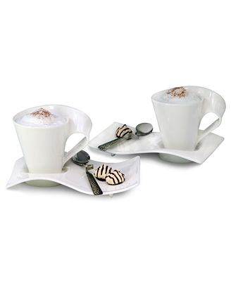 Villeroy & Boch Dinnerware New Wave Caffe Coffee for 2 Gift Set
