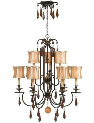 World Imports Turin Collection Euro Bronze 9-Light Chandelier