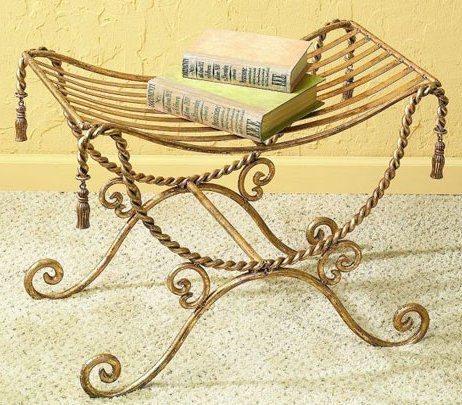 Antique Gold Iron Bench