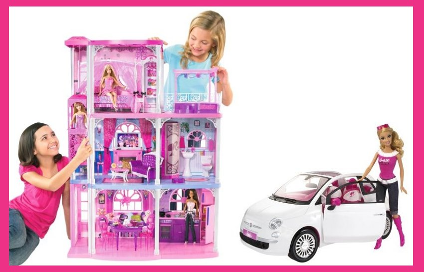Barbie Dreamhouse with FIAT