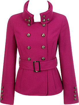 Black Rivet Button Collar Double Breasted Jacket