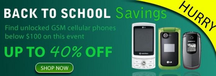 cell hut back to school sale