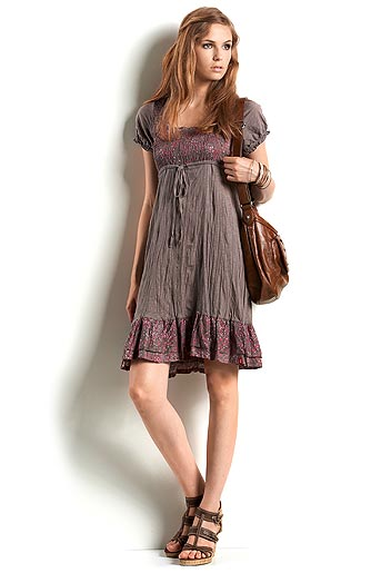 cotton crinkle dress