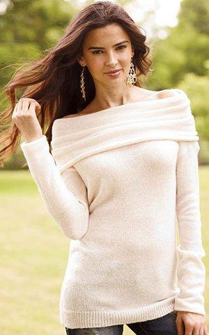 cozy long-sleeve marilyn sweater