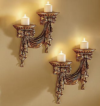 Decorate  Room Online on Set Of 2 Contemporary Metal Sconces Decorate Guest Room Or Living Room