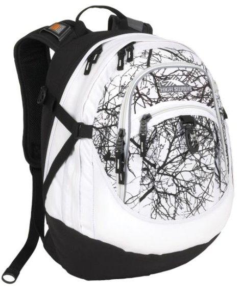 High Sierra White/Black Trees Backpack