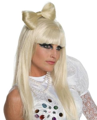 lady gaga bow wig. Lady Gaga Bow Clip