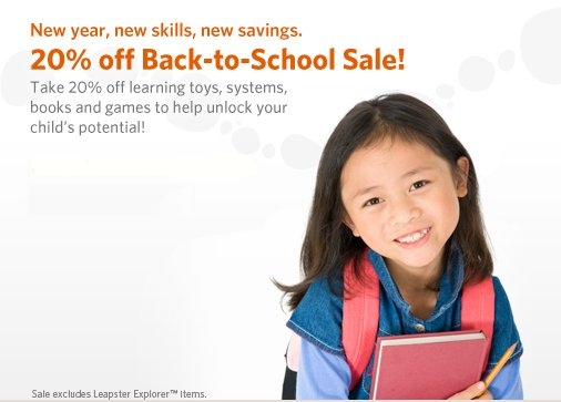 leap frog back to school sale
