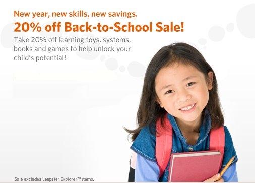 leap frog back to school sale