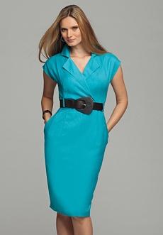 Linen Blend Plus Size Dress