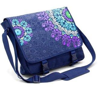 Medallion Midnight Blue Canvas Messenger Bag