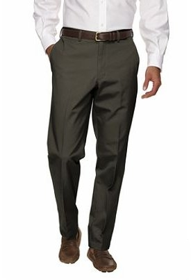 Men's Regular Plain Front Tailored Fit Chino Pants