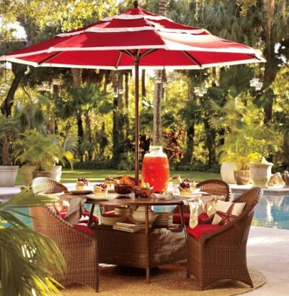 Palmetto All-Weather Wicker Round Dining Table