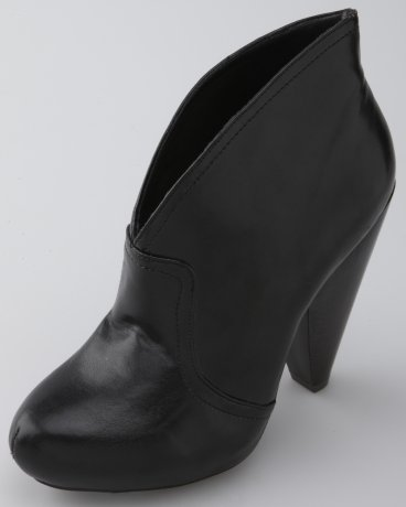 Plunging Slip-On Booties